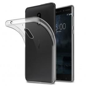 Nokia 6 silikon skal transparent