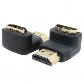 HDMI A 90 Degree Male-Female