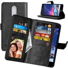 Mobilplånbok Dubbelflip Flexi 8-kort LG K8 2017 (M200N)