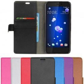 Mobilplånbok 2-kort HTC U11, mobil skal skydd CaseOnline