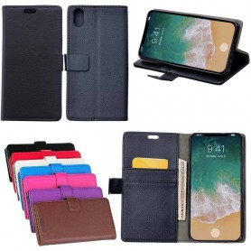 Mobilplånbok 2-kort, sedel, ställ, silikon skal Apple iPhone X CaseOnline