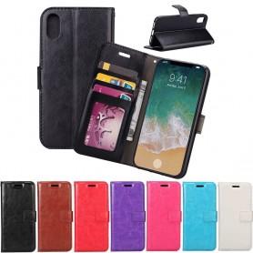 Mobilplånbok 3-kort Apple iPhone X ställ sedel silikon ram CaseOnline