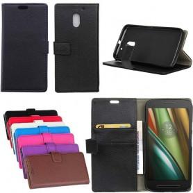 Mobilplånbok 2-kort Motorola Moto E3 (3rd Gen) mobil skal fodral skydd CaseOnline