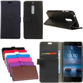 Mobilplånbok 2-kort Nokia 8 mobil skal fodral skydd caseoonline