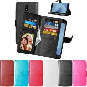 Dubbelflip Flexi 9-kort mobilplånbok Samsung Galaxy J5 2017 SM-J530F