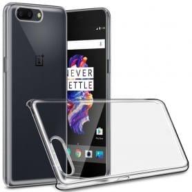 Clear Hard Case OnePlus 5 transparent skal mobil skydd