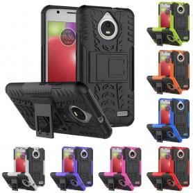 Stöttåligt skal med ställ Motorola Moto E4 silikon mobilskal