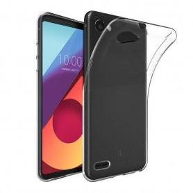 LG Q6 Silikon skal Transparent m700 mobilskal skydd fodral