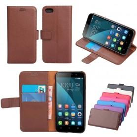 Mobilplånbok 2-kort silikon ram Huawei Honor 4X CHE2-L11 mobilskal skydd fordal