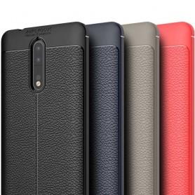 Läder mönstrat TPU skal Nokia 8 mobilskal caseonline