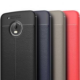 Läder mönstrat TPU skal Motorola Moto G5 Plus mobilskal caseonline