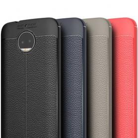 Läder mönstrat TPU skal Motorola Moto G5s Plus mobilskal skydd