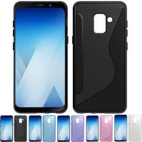 S Line silikon skal Samsung Galaxy A8 2018 SM-A530F tpu mobilskal caseonline