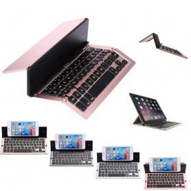 Bluetooth vikbart tangentbord F18 i aluminium perfekt för mobilen eller surfplattan