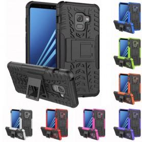 Stöttåligt skal med ställ Samsung Galaxy A8 2018 silikon tpu 2i1 mobilskal