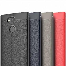 Läder mönstrat TPU skal Sony Xperia L2 mobilskal