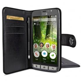Doro Liberto 825 Wallet Case - Svart mobilskal fodral väska