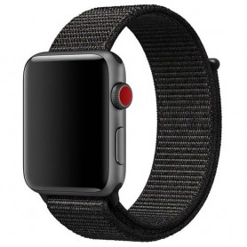 Apple Watch 38mm Nylon Armband Black Pink CaseOnline.se