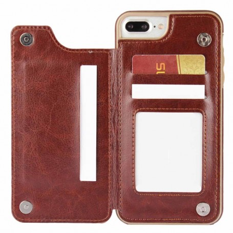 mobilskal Flipwallet 3-kort Apple iPhone 7+ / 8+ plånbok skal fodral