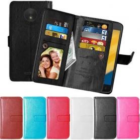 Mobilskal Dubbelflip Flexi Motorola Moto C skal mobilfodral