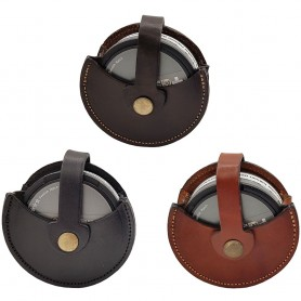 Svensktillverkad Snusdosehållare i läder mälarslöjd handgjort