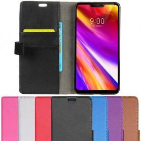 Mobilplånbok 2-kort LG G7 ThinQ mobilskal skydd fodral