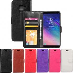 Mobilplånbok 3-kort Samsung Galaxy A6 2018 mobilskal fodral skydd