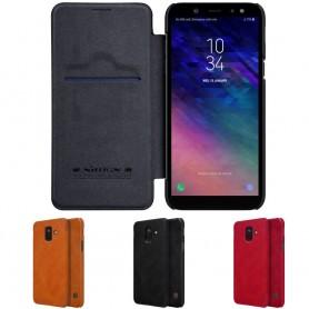 Nillkin Qin FlipCover Samsung Galaxy A6 2018 mobilskal fodral
