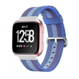 Nylon Armband till Fitbit Versa - Ljusblå