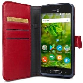Doro 8035 Wallet Case - Röd mobilskal fodral plånbok