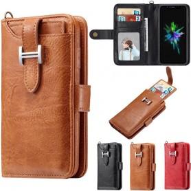 Multiplånbok 3i1 magnetisk 9-kort Apple iPhone XS Max mobilskal mobilplånbok