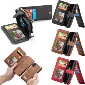 Multiplånbok 14 kort Apple iPhone XS Max Mobilplånbok magnetisk 2i1 avtagbar