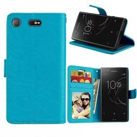 Mobilplånbok 3-kort Sony Xperia XZ1 Compact - Blå