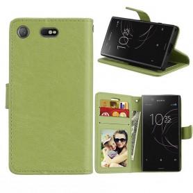 Mobilplånbok 3-kort Sony Xperia XZ1 Compact - Grön