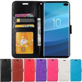 Mobilplånbok 3-kort Samsung Galaxy S10 Plus (SM-G975F) mobilskal fodral skydd caseonline