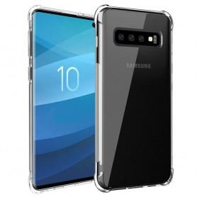Shockproof silikon skal Samsung Galaxy S10 (SM-G973F) mobilskal skydd transparent caseonline