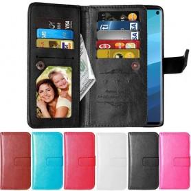 Dubbelflip Flexi 9-kort Samsung Galaxy S10E (SM-G970F) mobilskal mobilplånbok väska caseonline