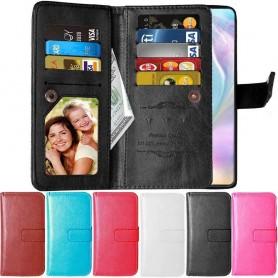 mobilplånbok Dubbelflip Flexi 9-kort Huawei P30 Lite (MAR-LX1) mobilskal skydd väska fodral caseonline