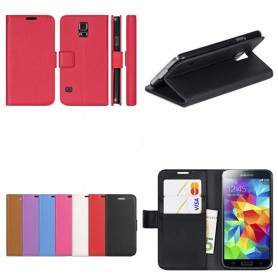 Samsung Galaxy S5 Mini mobilplånbok 2-kort fodral skydd