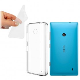 Nokia Lumia 520 silikon skal transparent