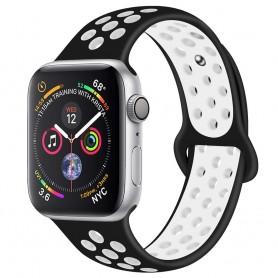 EBN Sport Armband Apple Watch 4 (40) - Svart/vit
