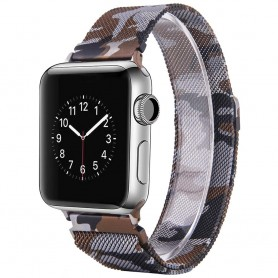 Apple Watch 4 (44) Armband Milanese Camo - Brun