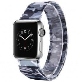 Apple Watch 4 (40) Armband Milanese Camo - Grå