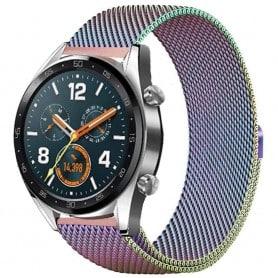 Milanese RSF stål Huawei Watch GT/Magic/TicWatch Pro - Rainbow