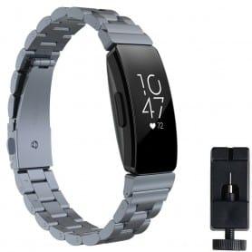 Armband rostfritt stål FITBIT Inspire / Inspire HR - Grå
