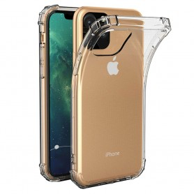Mobilskal Shockproof silikon skal Apple iPhone XI Max 2019 mjukt genomskinligt