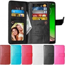 Dubbelflip Flexi 9-kort Motorola Moto G7 Power (XT1955) mobilskal fodral väska