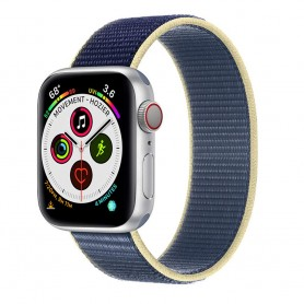 Apple Watch 5 (40mm) Nylon Armband - Artic Ocean Blue