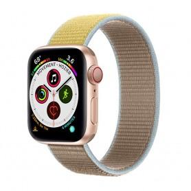 Apple Watch 5 (40mm) Nylon Armband - Camel