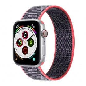 Apple Watch 5 (40mm) Nylon Armband - Electric Pink
